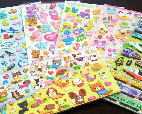 Craft Paper Stickers - 3d sticker sweet bunny house sticker paper