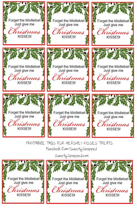 printable christmas bag tags free printable christmas kisses tags and bag toppers