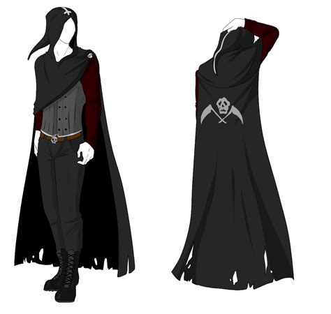 design clothes custom custom outfit adopt reaper cloak by shadowinkadopts