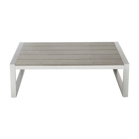 Garden Coffee Table Garden Coffee Table In Imitation Wood Composite And Aluminium W 110cm Brisbane Maisons Du Monde
