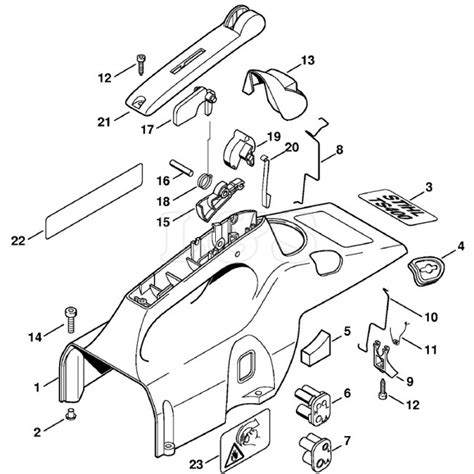 stihl ts400 parts diagram shroud assembly for stihl ts400 l s engineers