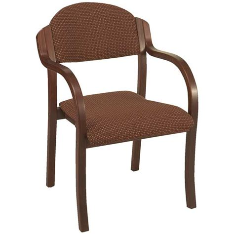Wood Chairs With Arms by Kfi Seating 1921 Padded Wood Stack Chair With Arms
