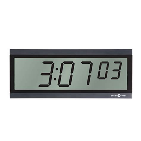 Pyramid 6 Digit Battery Operated Digital LCD Clock by Office Depot & OfficeMax