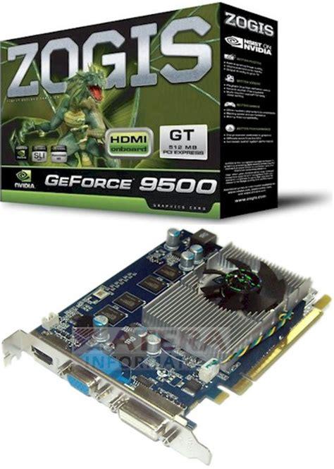 Vga Zotac Geforce 9500gt placa de v 237 deo zogis geforce 9500gt 512mb vga dvi hdmi atera inform 225 tica