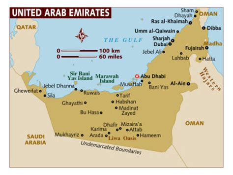 middle east map united arab emirates uae country information travel and tourism to the united