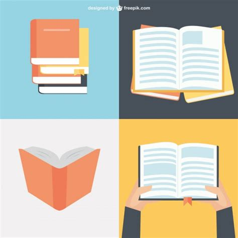 book layout design vector book collection in flat design vector free download