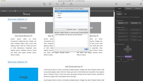 responsive layout maker how to edit a website created with coffeecup software