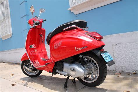 Modifikasi Vespa Merah by Gambar Sepeda Motor Vespa Terunik Gentong Modifikasi
