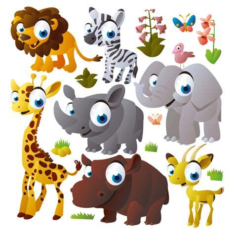 imagenes infantiles animales vinilo infantil animales de la selva
