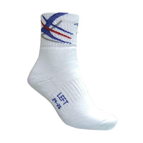 Kaos Kaki Bulutangkis jual flypower raptor kaos kaki badminton white blue harga kualitas terjamin
