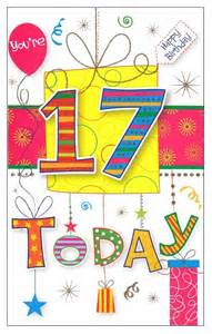 the gallery for gt happy 17th birthday cards