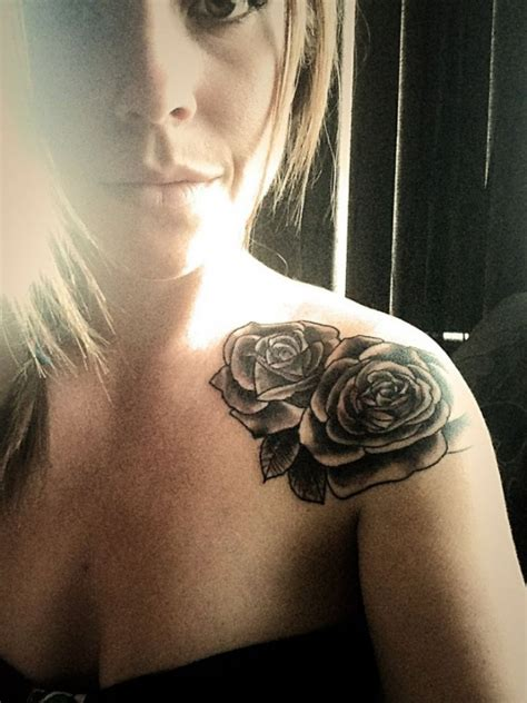 rose girl tattoos on top of shoulder pictures to pin on