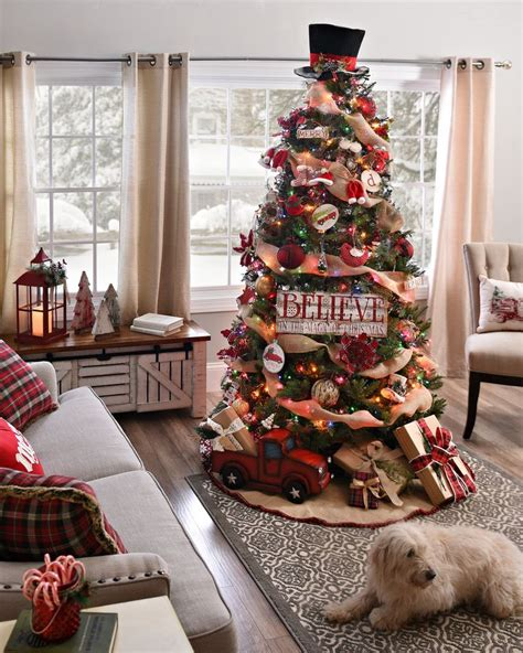 country christmas tree decor ideas   Country Christmas