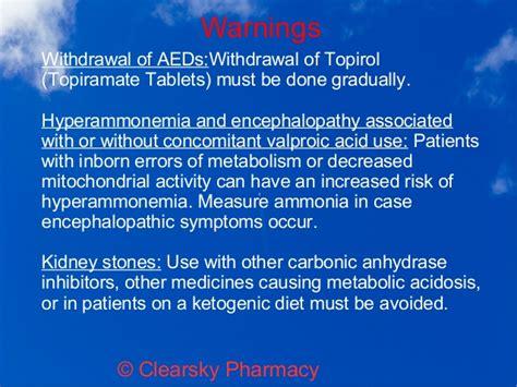 Ammonia Detox Symptoms by Topirol Topiramate Tablets