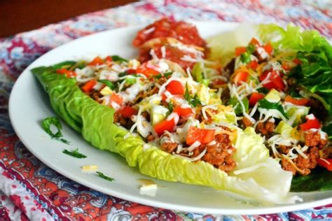 taco boats lettuce taco salad boats recipe food fanatic