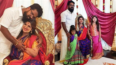 actress asin baby shower actress rambha 3rd baby shower with 2 daughters and