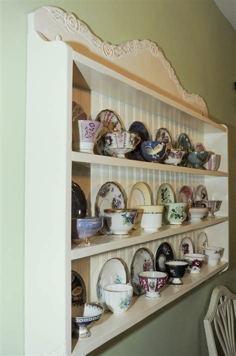 Teacup Display Shelf by Tea Cup Shelf Collectors Edition