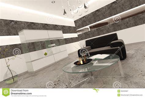 piastrelle salone interno moderno salone con le mattonelle di pietra ed