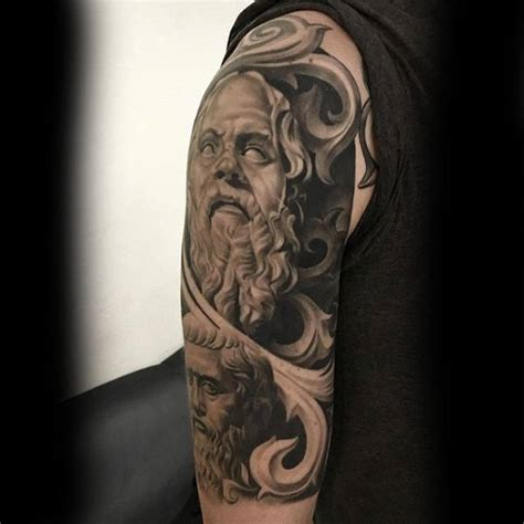 tattoo 3d god 80 stone tattoo designs for men carved rock ink ideas