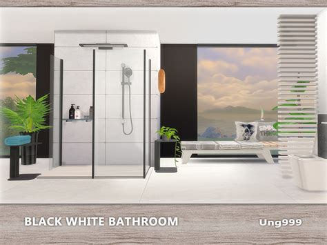 ungs black white bathroom