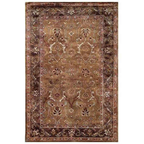 home accents rug collection linon home decor rosedown collection caper and sepia 8 ft x 10 ft indoor area rug rug slsg2681
