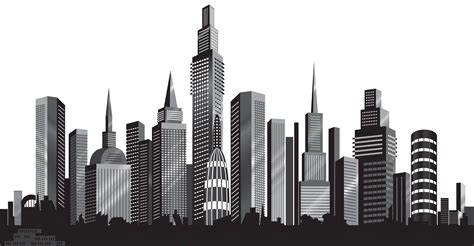 Kemeja Cowok New M City Black Grey cityscape silhouette png clip image gallery yopriceville high quality images and