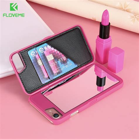 floveme flip makeup mirror phone cases  iphone     case  iphone     women