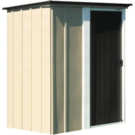 arrow brentwood 5 ft x 4 ft metal storage building bw54