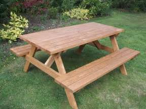 Wooden Bench And Table Set Wooden A Frame Picnic Bench 6 Seater E Timber Products