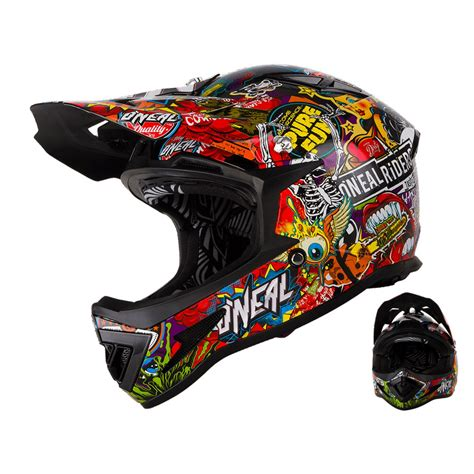 Helm Downhill oneal warp downhill helm crank mit two x brille enduro store