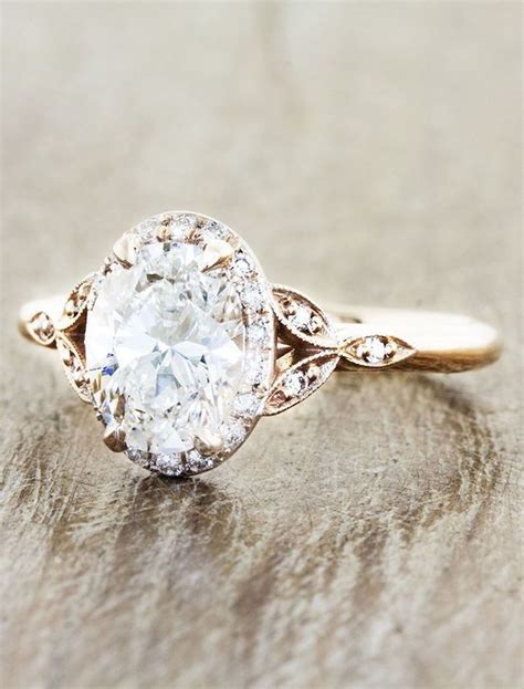 Wedding Rings Vintage by Engagement Rings With Glamorous Charm Gold Engagement