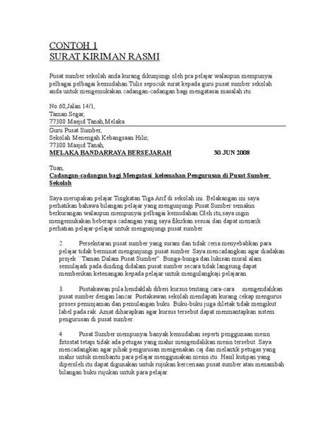 contoh karangan surat rasmi spm contoh z