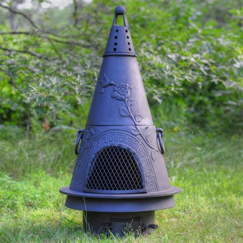 chiminea garden garden style cast iron outdoor fireplace chiminea chimenea