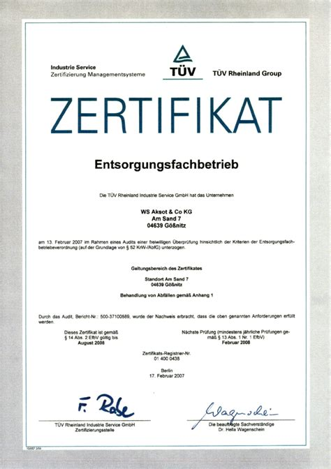 Word Vorlage Zertifikat Aksot Zertifikate