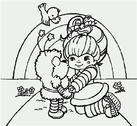 rainbow coloring page with color names coloring pages rainbow brite coloring home