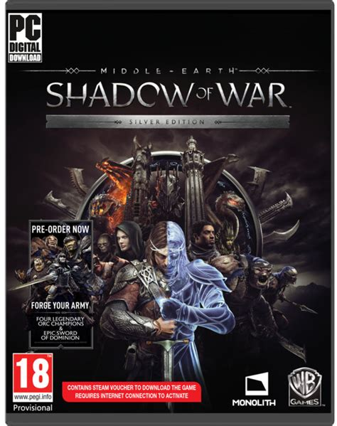 Middle Earth Shadow Of War Silver Edition Reg 3 Ps4 middle earth shadow of war silver edition pc prsten the one ring otv 237 r 225 k elfsk 233