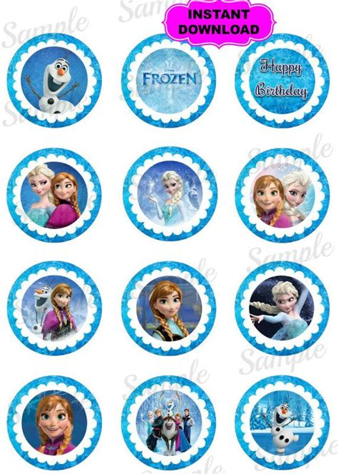 printable frozen favor tags 9 best images of disney frozen birthday printable gift