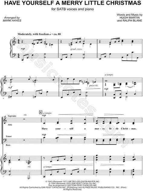 ralph blane    merry  christmas arr mark hayes satb choir piano choral
