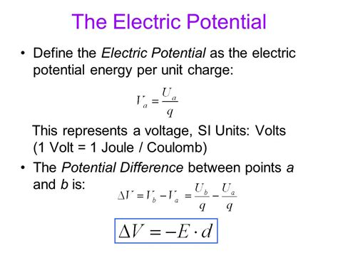 what is the charge on and the potential difference across each capacitor electric potential energy ppt