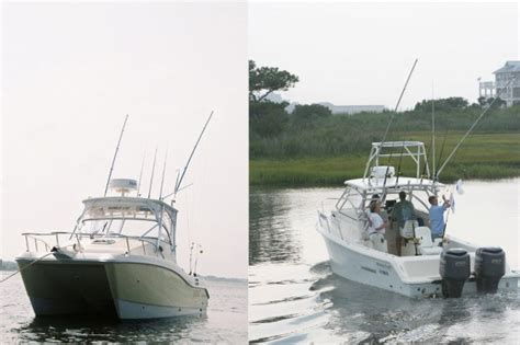 catamaran vs monohull fishing boat hasyim share power boat vs sailboat