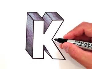 K Drawing 3d how to draw the letter k in 3d