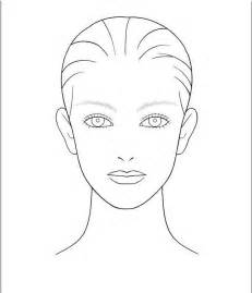 makeup design template blank template for hair and makeup foundation of your