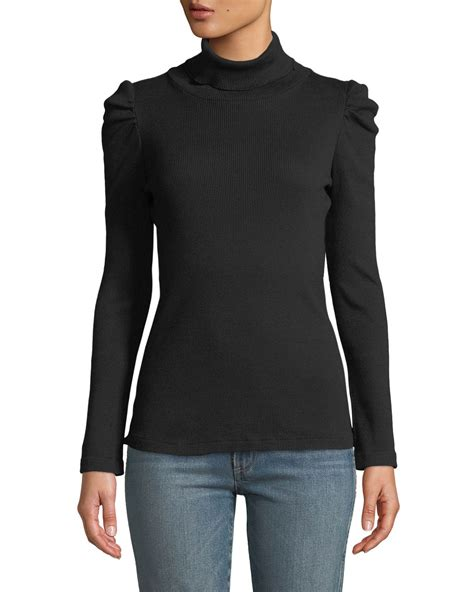 Puff Sleeve Pullover amo denim puff sleeve turtleneck pullover sweater neiman