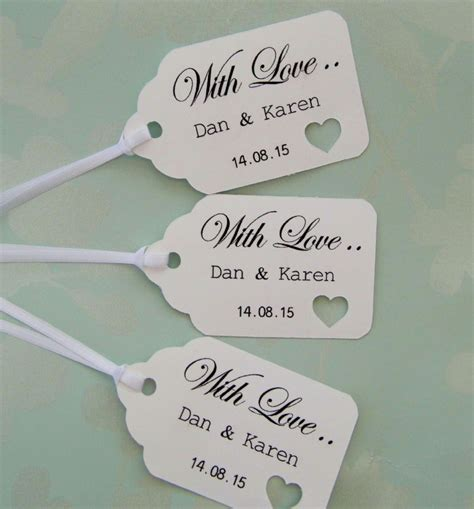 Wedding Gift Personalised by Personalised Wedding Gift Tags