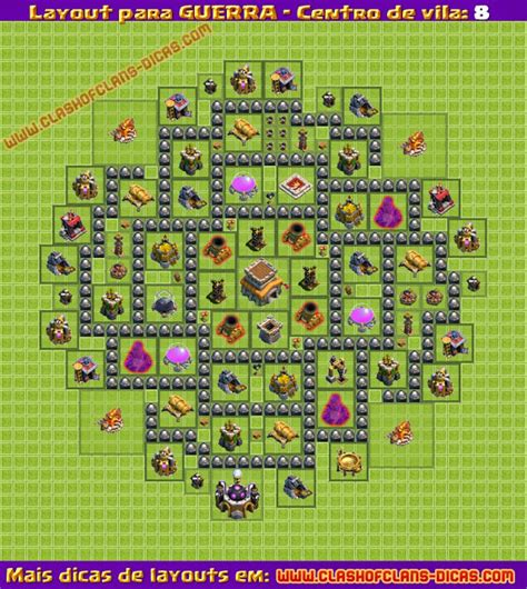 layout guerra cv 7 dispersor layouts de guerra para cv8 clash of clans dicas gemas