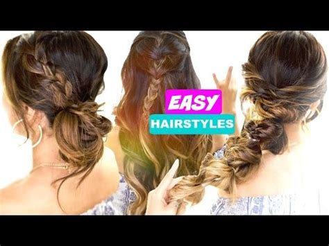 easy back to school hairstyles youtube 3 easy back to school hairstyles cute hairstyle