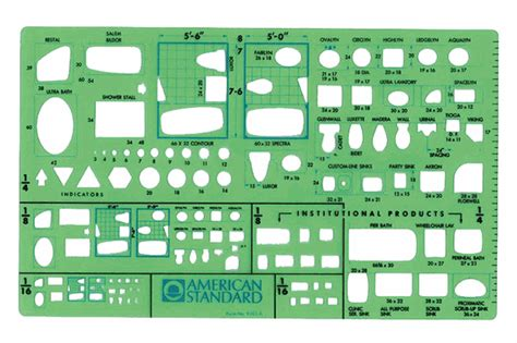 American Standard Templates For Autocad | american standard 9383ta plumbing drafting template plan