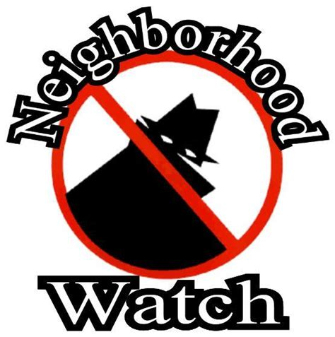 Free Neighborhood Watch Flyer Templates neighborhood logo clipart