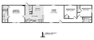 Floor Plans For Trailer Homes by 3 Bedroom Mobile Home Floor Plan Manufactured Home And