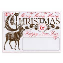 woodland vintage reindeer design your own customized personalized chistmas card